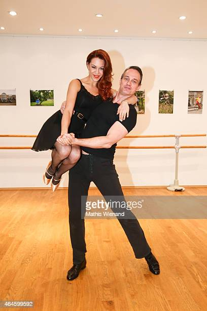Ralf Bauer and Oana Nechiti pose at a photo call for the television competition 'Let's Dance' on February 27 2015 in Cologne Germany On March 13th...