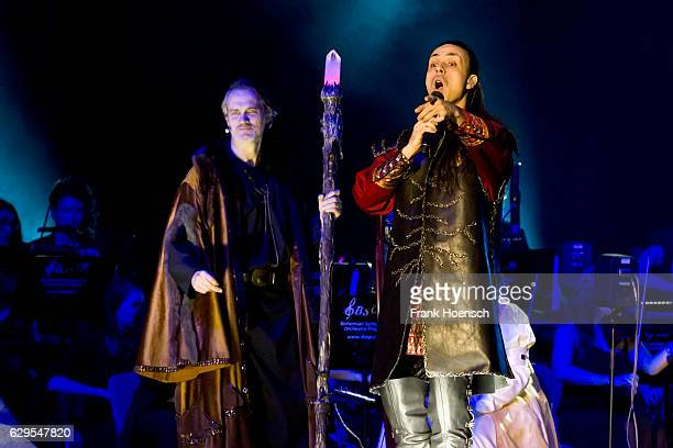 Ralf Bauer and Roberto Tiranti perform live during The Celtic Rock Opera Excalibur at the MercedesBenz Arena on December 13 2016 in Berlin Germany