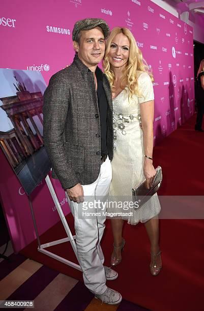 Ralf Bauer and Sonya Kraus attend the 'CLOSER Magazin Hosts SMILE Award 2014' at Hotel Vier Jahreszeiten on November 4, 2014 in Munich, Germany.