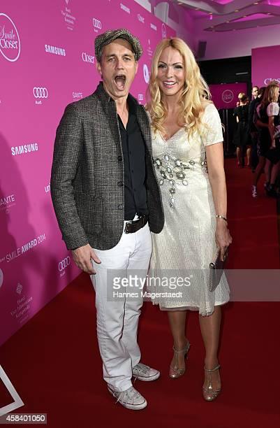 Ralf Bauer and Sonya Kraus attend the 'CLOSER Magazin Hosts SMILE Award 2014' at Hotel Vier Jahreszeiten on November 4 2014 in Munich Germany