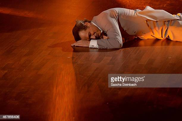 Ralf Bauer performs on stage during the 3rd show of the television competition 'Let's Dance' on March 27 2015 in Cologne Germany