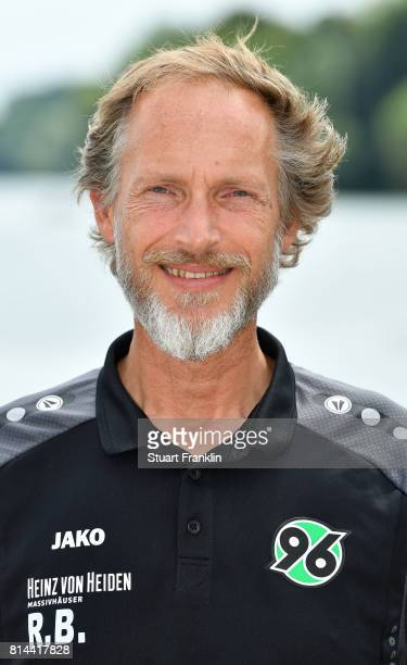 Ralf Blume physiotherapist of Hannover 96 poses during the team presentation at on July 14 2017 in Hanover Germany