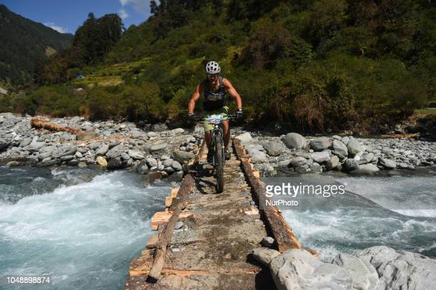 Ralf Diersch of Germany competes in the 14th edition of the Hero MTB Himalaya mountain bike race in the northern Indian state of Himachal Pradesh on...