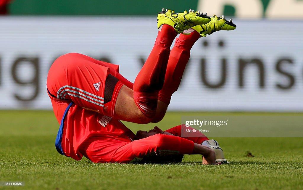 Ralf faehrmann, goalkeeper of Schalke reacts after the Bundesliga match between SV Werder Bremen and Schalke 04 at Weserstadion on August 15, 2015 in Bremen, Germany.
