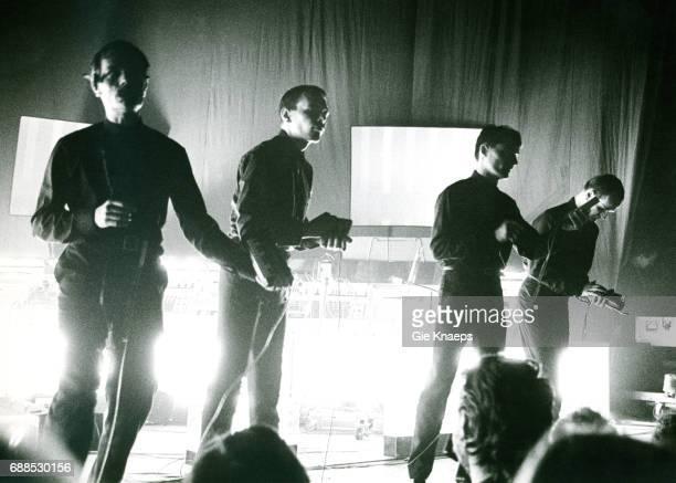 Ralf Hutter, Florian Schneider, Wolfgang Flur, Karl Bartos, Kraftwerk, Ancienne Belgique, Brussels, .