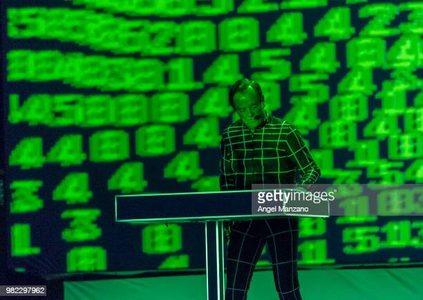 Ralf Hutter from Kraftwerk performs on Las Noches del Botanico festival on June 23 2018 in Madrid Spain