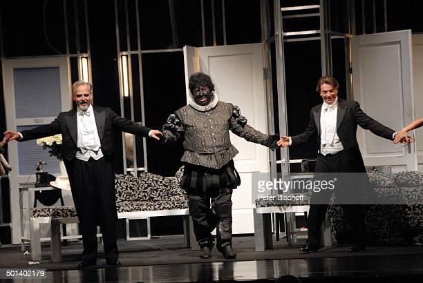 Ralf Komorr Michael Schanze Pascal Breuer Komödie Othello darf nicht platzen Theater Kleines Haus Delmenhorst Niedersachsen Deutschland Europa...