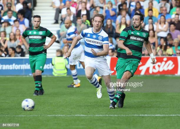 Ralf Little and Damian Lewis during the #GAME4GRENFELL at Loftus Road on September 2, 2017 in London, England. The charity football match has been...