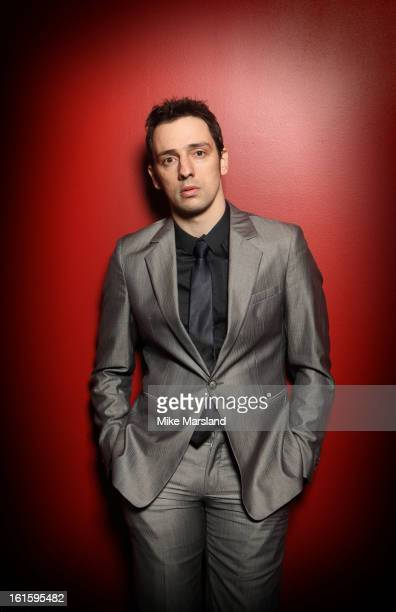 Ralf Little poses in the portrait studio at the Pre-Bafta party hosted by EE and Esquire ahead of the 2013 EE British Academy Film Awards>> at The...