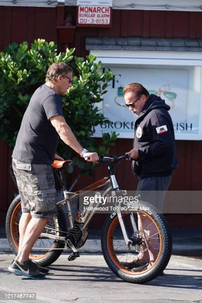 Ralf Moeller and Arnold Schwarzenegger are seen on June 3 2020 in Los Angeles CA