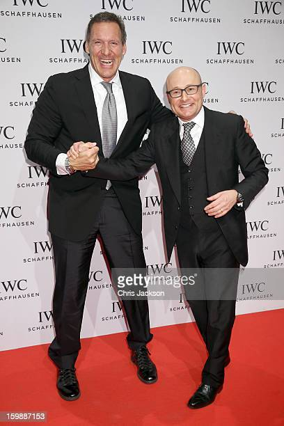 Ralf Moeller and Georges Kern attend the IWC Schaffhausen Race Night event during the Salon International de la Haute Horlogerie 2013 at Palexpo on...