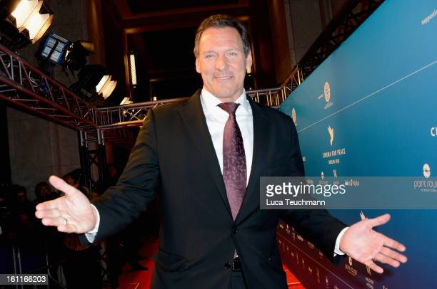 Ralf Moeller attends the Cinema For Peace Gala 2013 during the 63rd Berlinale International Film Festival at the Waldorf Astoria Hotel on February 9...