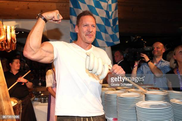 Ralf Moeller during the 27th Weisswurstparty at Hotel Stanglwirt on January 19 2018 in Going near Kitzbuehel Austria