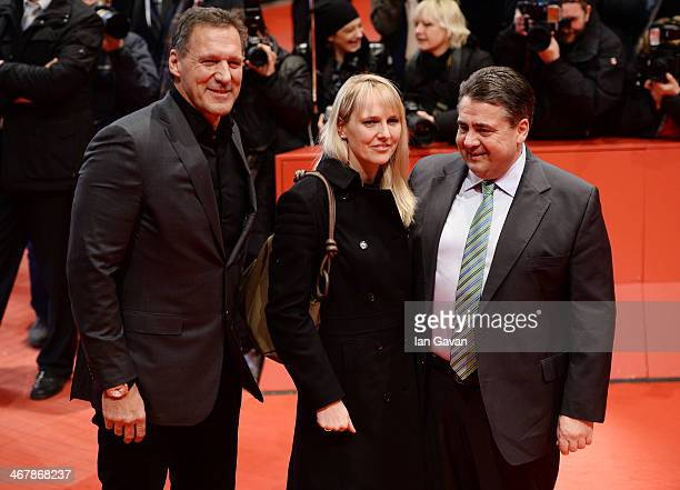 Ralf Moeller German vicechancellor Sigmar Gabriel and his wife Anke Gabriel attend 'The Monuments Men' premiere during 64th Berlinale International...