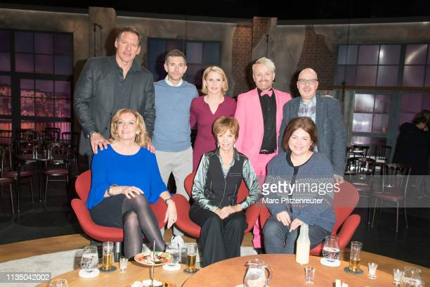 Ralf Moeller Micky Beisenherz Susan Link Ross Antony Thomas Herfert Bettina Tietjen Ulrike Kriener and Maria Gross attend the Koelner Treff TV Show...