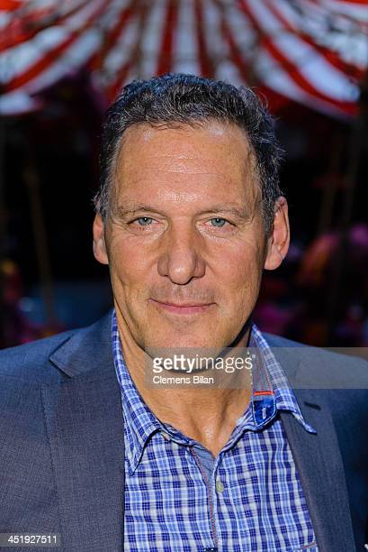 Ralf Moeller poses during a photo call during the rehearsals for Keinschneechaos at FriedrichstadtPalast on November 25 2013 in Berlin Germany