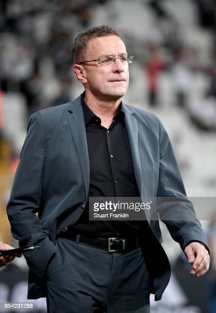 Ralf Rangnick RB Leipzig sporting director is seen prior to the UEFA Champions League Group G match between Besiktas and RB Leipzig at Besiktas Park...