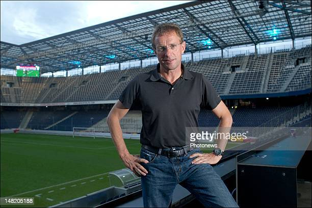 Ralf Rangnick Red Bull Salzburg Sports Director poses for a portrait session after the friendly game between Red Bull Salzburg and RSC Anderlecht on...