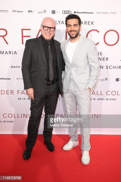 Ralf Schilling and Elyas M'Barek attend the Der Fall Collini premiere at Cinedome on April 18 2019 in Cologne Germany