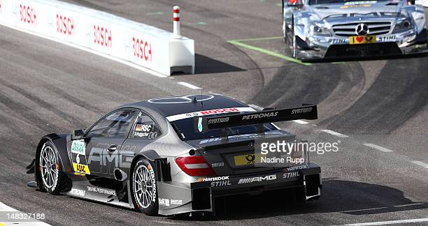 Ralf Schumacher and Jamie Green win todays final team race of the DTM German Touring Car - Munich 2012 at Olympiastadion on July 14, 2012 in Munich,...