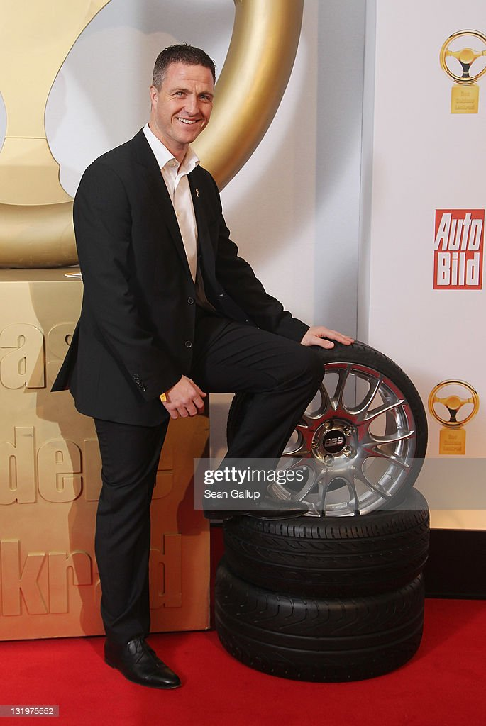 Michael Schumacher attends 'Das Goldene Lenkrad 2011' Awards at Axel-Springer Haus on November 9, 2011 in Berlin, Germany.