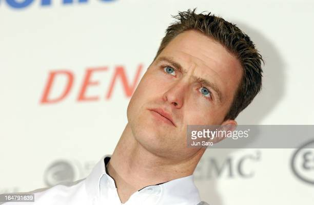 'Ralf Schumacher during Ralf Schumacher in Panasonic Toyota Talk Show at Mega Web in Tokyo Japan '