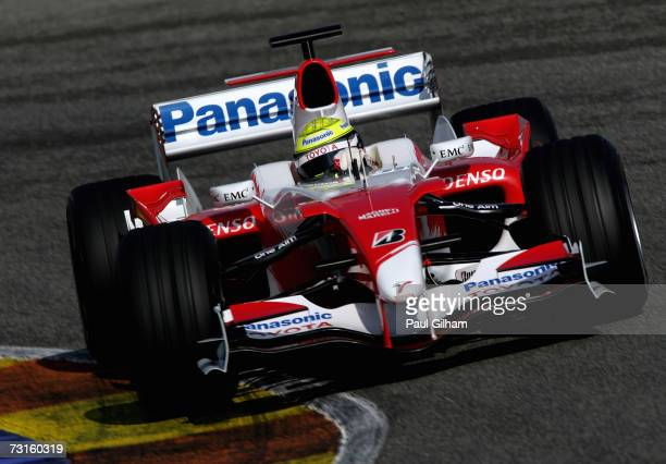 Ralf Schumacher of Germany and Toyota in action during Formula One testing at the Circuit Ricardo Tormo on January 31, 2007 in Valencia, Spain.