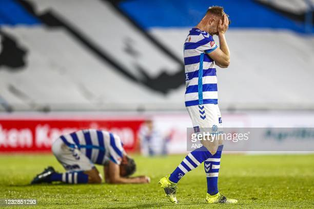 Ralf Seuntjens or De Graafschap, Melvin Platje or De Graafschap are fed up with missing out on the promotion during the Dutch Kitchen champion...