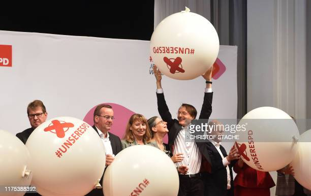 Ralf Stegner, Boris Pistorius, Petra Koepping, Nina Scheer, Karl Lauterbach and Olaf Scholz, candidates as chairperson for the Social Democratic...