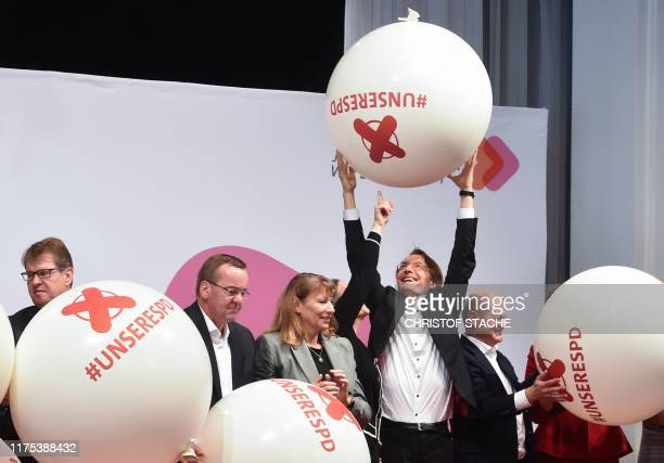 Ralf Stegner, Boris Pistorius, Petra Koepping, Nina Scheer, Karl Lauterbach and Olaf Scholz, candidates as chairpersons for the Social Democratic...