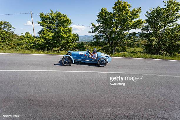 Rally ABC pass on the road of the Futa Pass towards Bologna during the Millle Miglia on May 21 2016 in Bologna Italy