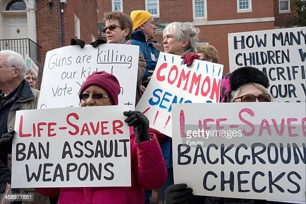 rally for gun control legislation - gun rally stock pictures, royalty-free photos & images