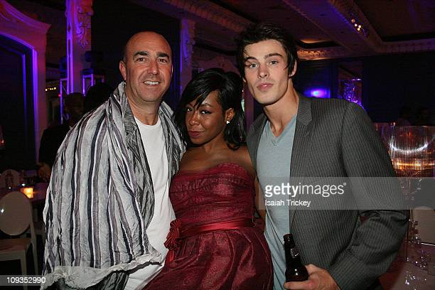 Rally for Kids With Cancer's Joel HockTichina Arnold and actor Adam Gregory at Four Seasons Hotel on September 26 2009 in Toronto Canada