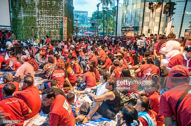 udd (赤色シャツ)ラリーでバンコク(タイ) - ラチャプラソン ストックフォトと画像