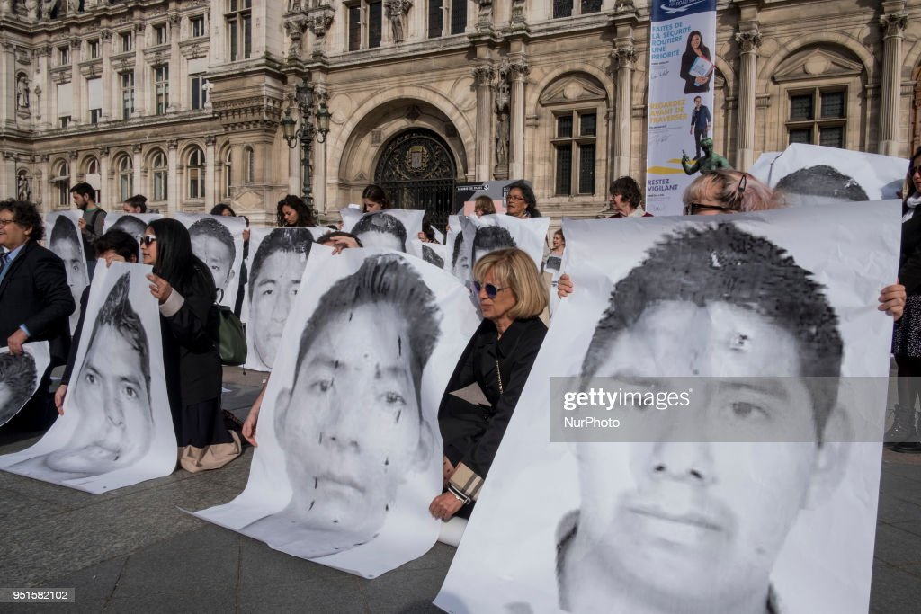 Rally In Paris For The 43 Missing Mexican Students