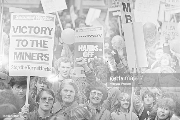 A rally in support of the striking miners on March 29 1984