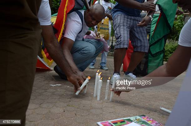 A rally in the center of Athens organised from Biafrans that live in Greece to commemorate the victims of Biafra Wars or Nyerian Civil War and asking...