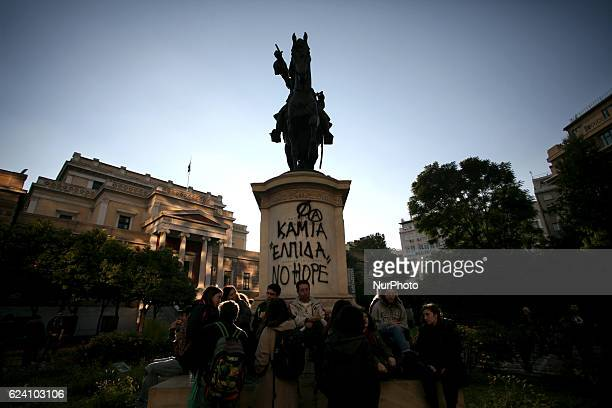 Rally marking the 43rd anniversary of a student uprising in 1973 against the military dictatorship, Athens, Greece, November 17, 2016. Greece is...