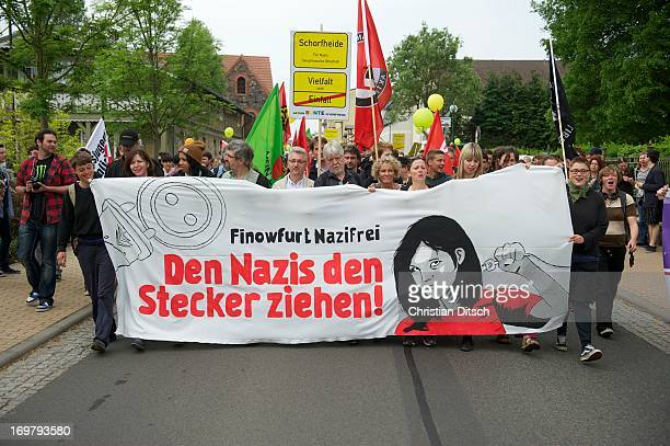 Rally of 500-600 people against a neonazi-conzert in Brandenburg/Germany 18.5.2013, Finowfurt Copyright: Christian Ditsch/version-foto.de 500 bis 600...