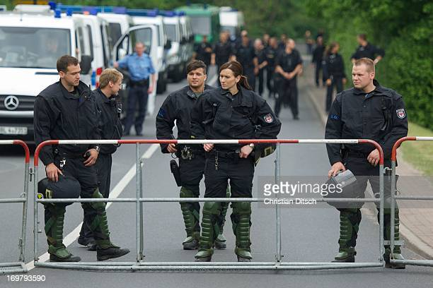 CONTENT] A rally of 500600 people against a neonaziconzert in Brandenburg/Germany Police block the roade to the neonazi concert 1852013 Finowfurt...