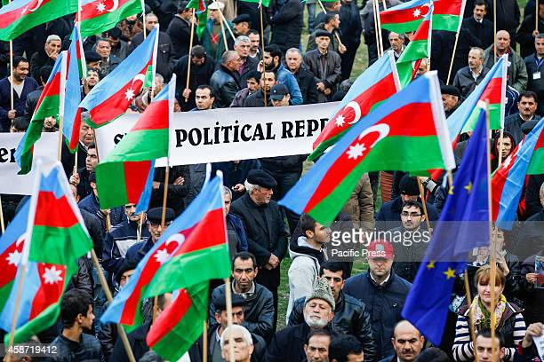 A rally of the opposition National Council of Democratic Forces at the Mehsul in the Yasamal district of Baku Thousands of people participated in the...