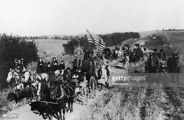 A rally of the Populist movement in Willowdale Township Dickinson County Kansas USA date unknown