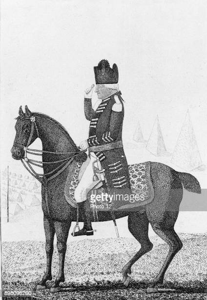 Ralph Abercromby Scottish general Served in Seven Years' War Defeated French at Alexandria 21 March 1801 but died of his wounds John Kay cartoon of...