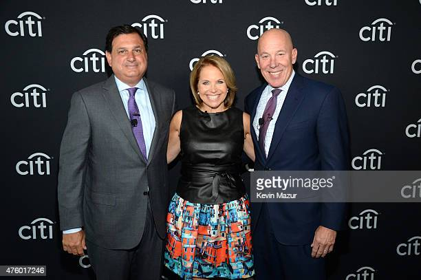 Ralph Andretta Head of North America Branded Cards Citigroup Katie Couric and Jud Linville CEO Citi Card during Backstage with Citi John Legend Katie...