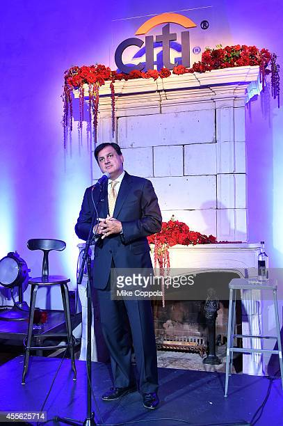 Ralph Andretta Head of Product Management Citi Cards speaks onstage at launch of new Citi and Expedia travel credit cards on September 17 2014 in New...