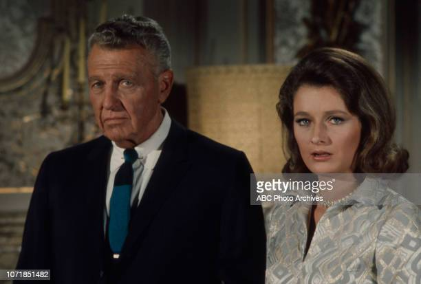 Ralph Bellamy Diana Muldaur appearing in the Walt Disney Television via Getty Images series 'The Survivors'
