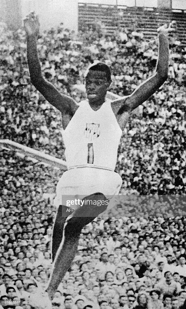 Ralph Boston beats world record in the Long Jump c : News Photo