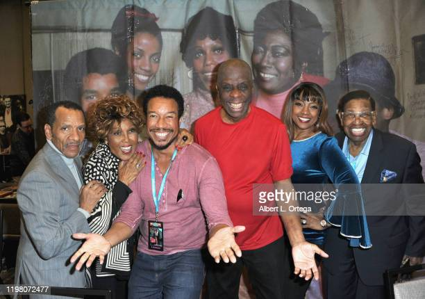 Ralph Carter, Ja'Net DuBois, Rico E. Anderson, Jimmie Walker, BernNadette Stanis and Johnny Brown attend the 2020 Hollywood Show held at Marriott...