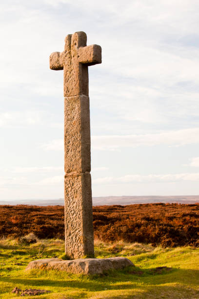 Ralph Cross, an ancient stone cross on Danby Moor in the North York Moors, Yorkshire, UK.