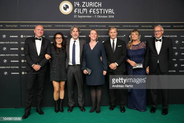 Ralph Dietrich guest Director Peter Farrelly guest Viggo Mortensen Karin Dietrich and guest attend the opening ceremony and 'Green Book' premiere...